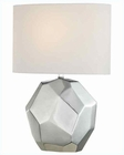 Lite Source Chrome Ceramic Body White Fabric Table Lamp LS-21983C