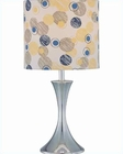 Lite Source in Chrome Colored Fabric Shade Regina Table Lamp LS-21401