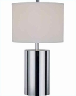 Lite Source in Chrome Eclat Table Lamp LS-21303C-WHT