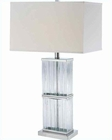 Lite Source in Chrome Kaveri Table Lamp LS-21588C-WHT