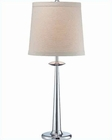 Lite Source in Chrome Linen Fabric Shade Dolce Table Lamp LS-21823