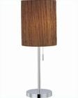 Lite Source in Chrome Livlig Table Lamp LS-21558C-COFF