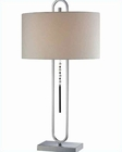 Lite Source Chrome Off Wht. Linen Gervais Table Lamp LS-21870