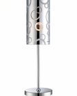 Lite Source in Chrome Painted Glass Shade Olesia Table Lamp LS-22159