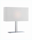 Lite Source in Chrome White Fabric Levon Table Lamp LS-21797C-WHT
