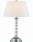 Lite Source in Chrome White Fabric Shade Aria Table Lamp LSF-22125