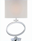 Lite Source Chrome White Fabric Shade Renia Table Lamp 150W LS-22072