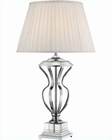 Lite Source Chrome White Pleated Fabric Giovana Table Lamp LSF-22104
