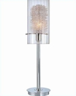 Lite Source in Chrome with CLR Glass & Alu Accent Table Lamp LS-20377