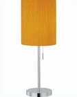 Lite Source Chrome Orange Crinkled Fabric Table Lamp LS-21558C-ORN