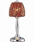 Lite Source in Chrome with Red Mosaic Shade Table Lamp LS-20485RED-MOS