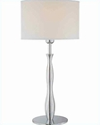 Lite Source in Chrome with White Fabric Shade Table Lamp LS-21305C-WHT
