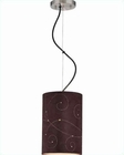 Lite Source Coffee Laser Cut Suede Shade Marrom Pendant Lamp LS-18360
