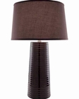 Lite Source in Coffee with Fabric Shade Table Lamp LS-20830COFFEE