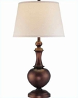 Lite Source in Copper Bronze Linen Fabric Shade Table Lamp LS-21633