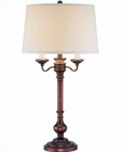 Lite Source in Copper Bronze Linen Shade Table Lamp LS-21632