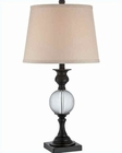 Lite Source  Bronze Beige Fabric Shade Annibale Table Lamp LS-22066