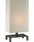 Lite Source  Bronze Off White Fabric Shade Lukah Table Lamp LS-22004