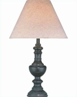 Lite Source in Dark Bronze with White Baskin Table Lamp LS-C4347