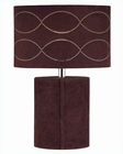 Lite Source in Dark Brown Genuine Leather Table Lamp LS-20572D-BRN