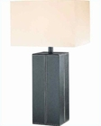 Lite Source  Brown Leather White Table Lamp LS-2937DBRN-LTR