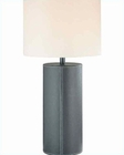 Lite Source  Brown w/ Leather Fabric Shade Table Lamp LSF-2933DBR-LT