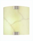 Lite Source in Fluorescent Wall Sconce Lite PS w/ Glass Shade LS-1627