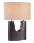 Lite Source Genuine Leather w/ Oval Suede Shade Table Lamp LS-20208LTR