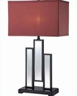 Lite Source Mirror Body Fabric Shade Specchio Table Lamp 25W LSF-22163