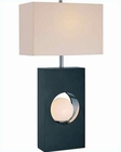 Lite Source in Night Lite Blk w/ Wht. Shade Huxley Table Lamp LS-21651