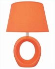 Lite Source in Orange Ceramic Body Table Lamp LS-20585ORN