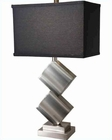 Lite Source in PS Black Fabric Shade Dewayne Table Lamp LS-21929PS-BLK