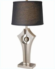 Lite Source in PS Black Fabric Shade Harold Table Lamp LS-21928PS-BLK