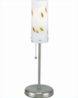 Lite Source in PS Fro. Glass Shade with Speckles Table Lamp LS-2180PS