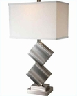 Lite Source PS Off White Fabric Shade Table Lamp LS-21929PS-WHT