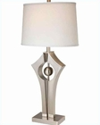 Lite Source PS Off White Fabric Shade Harold Table Lamp LS-21928PS-WHT