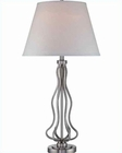 Lite Source in PS White Fabric Shade Abril Table Lamp LS-21988PS-WHT