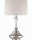 Lite Source PS White Fabric Shade Elisio Table Lamp LSF-22079