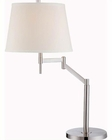 Lite Source in PS White Fabric Shade Eveleen Table Lamp LS-22139