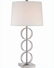 Lite Source in PS White Fabric Shade Isaia Table Lamp LS-22074