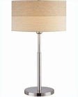 Lite Source in PS with 2 Tone Textured Shade Table Lamp LS-20751PS