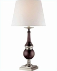 Lite Source in PS with Dark Walnut Table Lamp LS-20768PS/DWAL