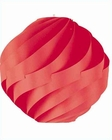 Lite Source in PS with Red Pleated Shade Table Lamp LS-20129PS-Red