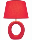 Lite Source in Red Ceramic Body Table Lamp LS-20585RED