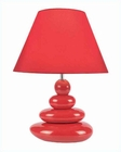 Lite Source Red Ceramic Body w/ Fabric Shade Table Lamp LS-22112RED