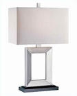 Lite Source in Silver Metal Table Lamp LS-20822SIL/WHT