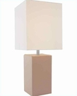 Lite Source in Tan Leather Table Lamp LS-20839TAN-LTR