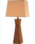 Lite Source Tan Wood w/ Body Tan Fabric Shade Table Lamp LS-21386