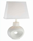 Lite Source in White Ceramic Body Table Lamp LS-21551WHT-WHT