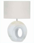Lite Source White Ceramic Body White Fabric Table Lamp LS-21552WHT-WHT